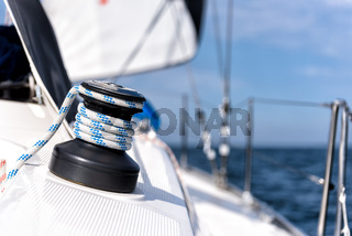 winch on a sailing yacht