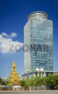 Canadia Bank tower skyscraper in central phnom penh city cambodia