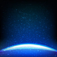 Dark Blue Space Background