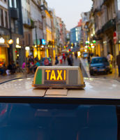 Old Town taxi car, Portugal