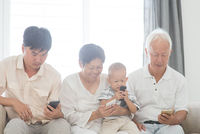 Family addicted with smart phones