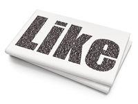 Social media concept: Like on Blank Newspaper background