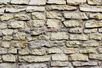 texture beige wall of historical stones calcareous tuff. Gatchina, Russia