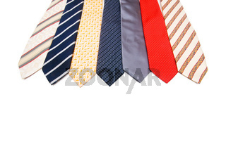Neck ties isolated on the white background