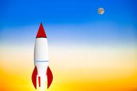 Rocket in the climb, 3d illustration