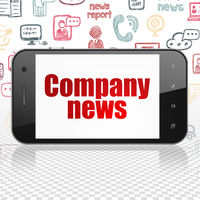 News concept: Smartphone with Company News on display