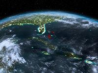 Bahamas from space at night