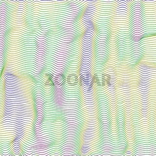 Wave Stripe Background. Line Textured Pattern