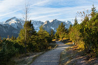 Wanderweg ins Gebirge