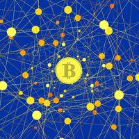 Set of Yellow Bitcoin Icons
