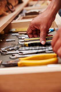Werkzeuge in der Werkzeugkiste