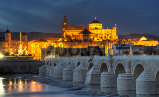 Cityscape of Cordoba at sunset