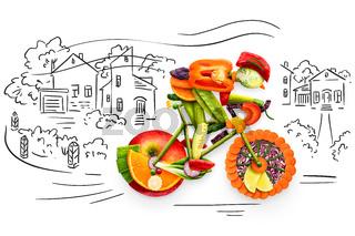 Fruity biker.
