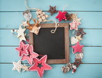 Rustikale Dekoration zu Weihnachten