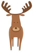 deer or moose cartoon animal character