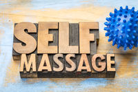 spiky self massage concept