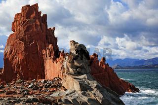 Porphyrfelsen Arbatax, Sardinien, Italy
