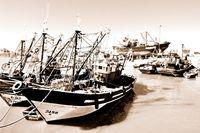 Fischerboote von Essaouira Marokko sepia.jpg