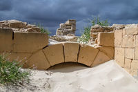 Ruins of Telegraf Station in Eucia covered with sand, Nullarbor, Western Autralia