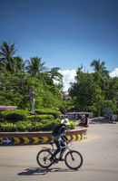 wat damnak roundabout in central siem reap city cambodia