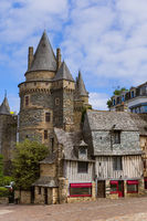Castle of Vitre in Brittany - France