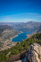 Stunning landscape of the Bay of Kotor in Montenegro
