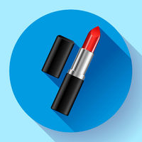 Red lipstick flat icon