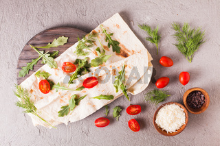 Thin armenian pita bread