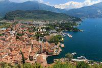 Panoramic view of Riva del Garda, Italy