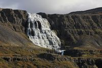 Dynjandi, also named Fjalfoss. Majestic waterfall in the west fjords of Iceland.