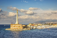 Harbour Entrance,  Statue of  Golden Madonna, Messina Italy