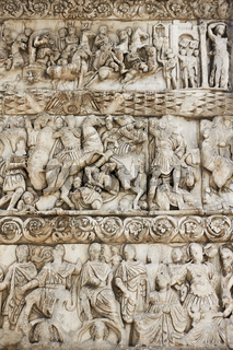 Ancient bas-relief on the Arch of Galerius