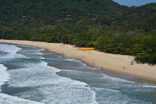 Felix beach, Ubatuba, Brazil