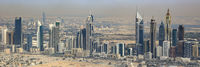 Dubai Emirates Towers Panorama Downtown Luftaufnahme Luftbild