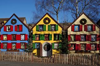 Weihnachtshaeuser, Turckheim, Elsass, France