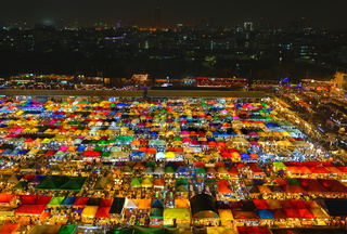 Ratchada Night Market in Bangkok