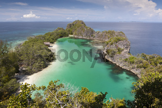 Rufus Bay Lagune bei Fam Islands, Indonesien