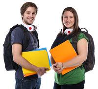 Studenten lachen Jugendliche Freisteller