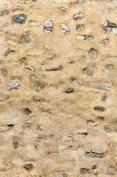 Wand aus Lehm und Stein