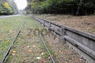 Bahngleise für die ehemalige Militäranlagen in Peenemünde