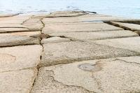 Natural fossil shell beach or Seashell Graveyard