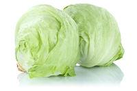 Eisbergsalat Salat Gemüse Freisteller freigestellt isoliert