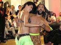 Rebecca Mir & Massimo Sinato bei 25 Jahre Papenbreer Magdeburg, Große Internationale Fashionshow am 20.09.2017 in Magdeburg