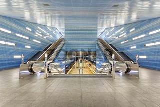 U-Bahn Station Überseequartier Hamburg, Deutschland, Europa
