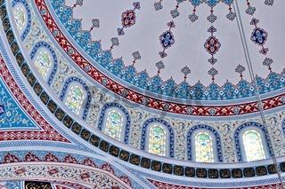 Teil der Kuppel in der blauen Moschee in Manavgat