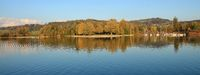 Autumn day at lake Pfaffikersee, Zurich Canton. Auslikon.
