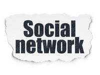 Social network concept: Social Network on Torn Paper background