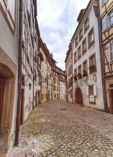 Old street in Little Venice, Colmar, Alsace, France