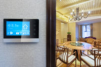 smart screen with smart home with modern dining room