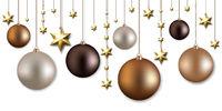 Christmas Garland With Ball And Stars